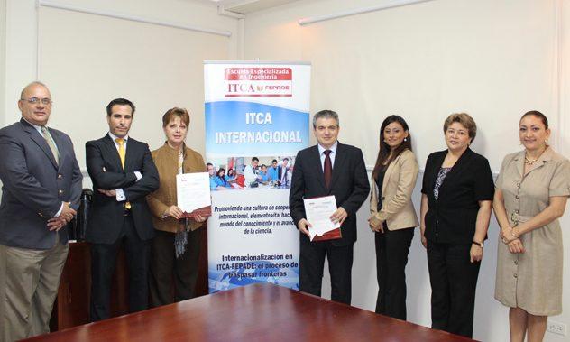 FUNIBER-El Salvador  y el instituto técnico Centroamericano itca firman convenio de colaboración