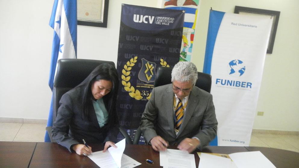 FUNIBER Honduras firma convenio de colaboración con la Universidad José Cecilio del Valle (UJCV)