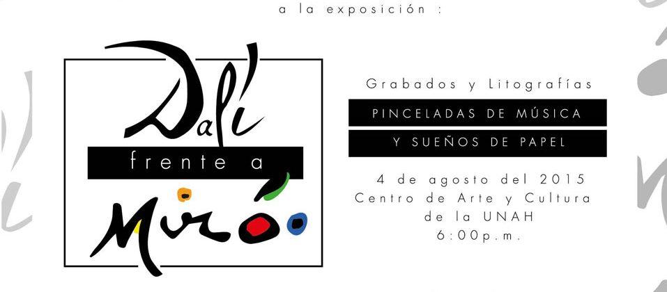 FUNIBER presenta la exposición «Dalí frente a Miró: Pinceladas de música y Sueños de papel» en Tegucigalpa (Honduras)