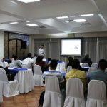 Erik Simões participa en una conferencia en Nicaragua