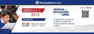 FUNIBER Perú patrocina EXPOEDUCA Estudiantes 2015 en Lima (Perú)