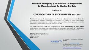 FUNIBER presenta el Programa de Becas en Ciudad del Este (Paraguay)