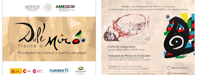 """FUNIBER patrocina la exposición """"Dalí frente a Miró: Pinceladas de Música y Sueños de papel"""" en El Salvador"""