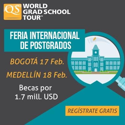 FUNIBER participará en la Feria QS World Grad School Tour en Colombia