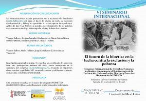 """FUNIBER participará en el VI Seminario Internacional """"El futuro de la bioética en la lucha contra la exclusión y la pobreza"""""""