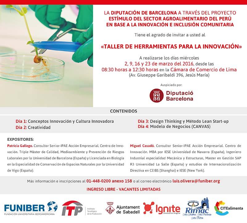 """FUNIBER organiza el """"Taller de Herramientas para la Innovación"""" en Perú"""