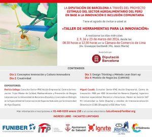 """FUNIBER patrocina el """"Taller de Herramientas para la Innovación"""" en Perú"""