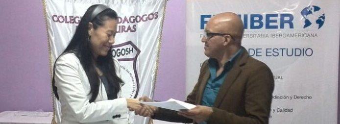 FUNIBER firma un convenio de becas con el Colegio de Pedagogos de Honduras