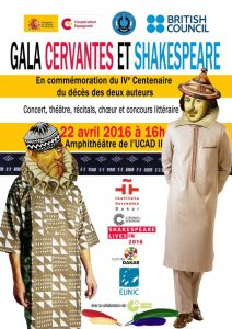 FUNIBER participará en la gala conmemorativa del IV Centenario de la muerte de Cervantes y Shakespeare en Senegal