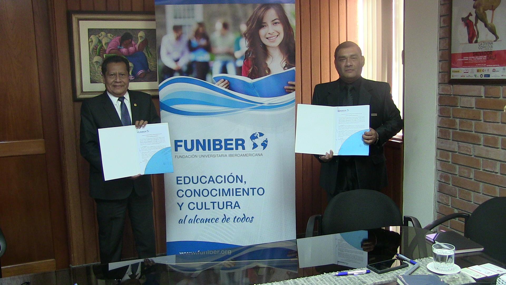 FUNIBER firma un convenio de colaboración con el Colegio de Periodistas de Perú