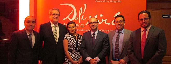 Embajadores de México y España en El Salvador inauguran exposición de Dalí y Miró