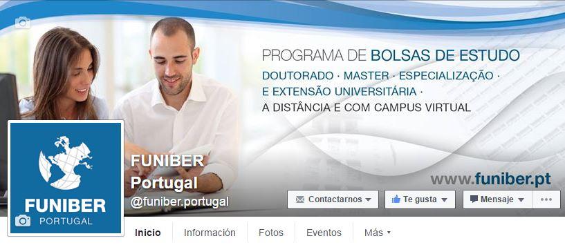 Nueva página de Facebook de FUNIBER Portugal