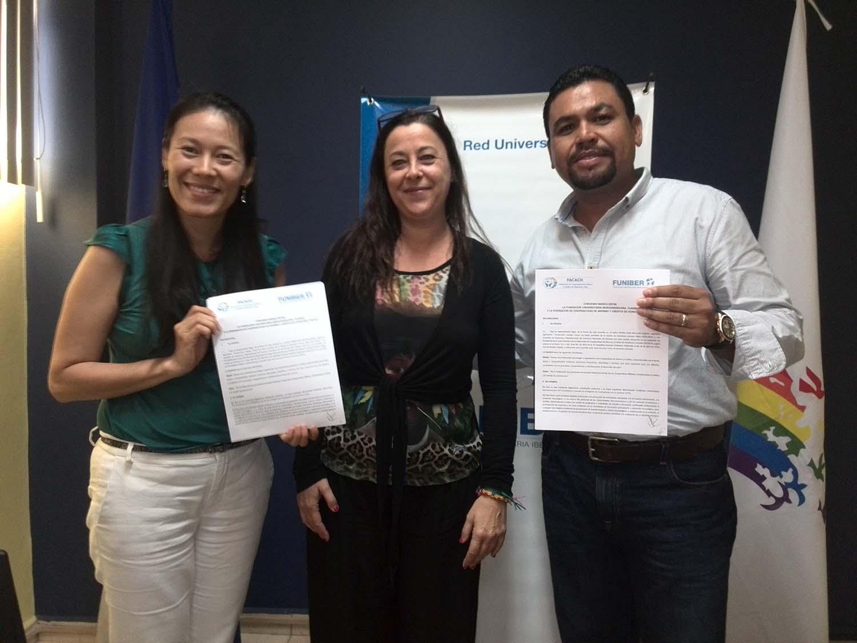 FUNIBER firma un convenio de becas con FACACH en Honduras