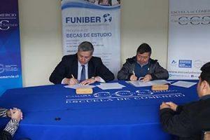 FUNIBER firma un convenio de Becas en Chile con la Escuela de Comercio de la CCS