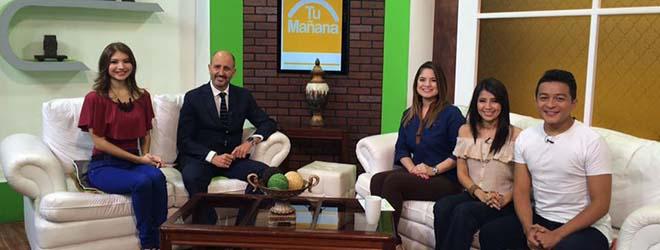 """FUNIBER aparece en el programa """"Tu mañana"""" del Canal 10 en El Salvador"""