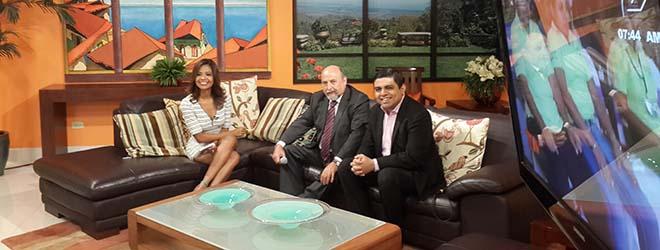 """Federico Fernández entrevistado en el programa de televisión """"Primera Hora"""" en Nicaragua"""