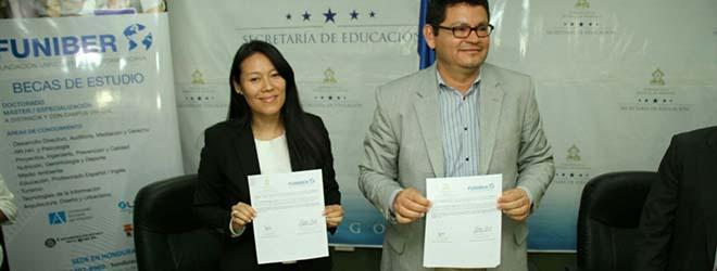 Secretario de Educación de Honduras anuncia el convenio de Becas de Formación firmado con FUNIBER