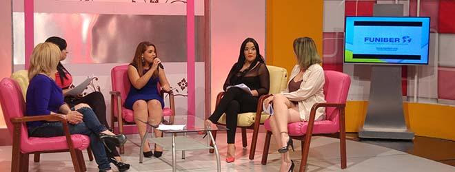 Directora de FUNIBER en República Dominicana entrevistada en TV
