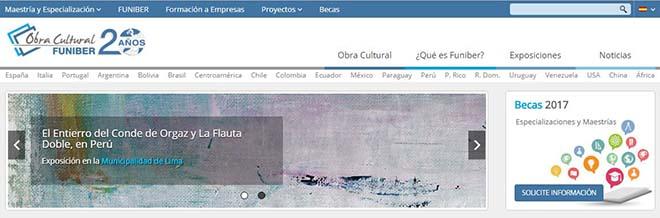 FUNIBER renueva la web de su Obra Cultural para hacerla más visual
