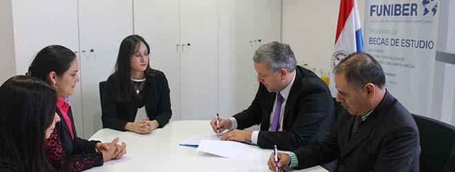 FUNIBER firma convenio con la Asociación de Ingenieros Ambientales del Paraguay (AIAMP)