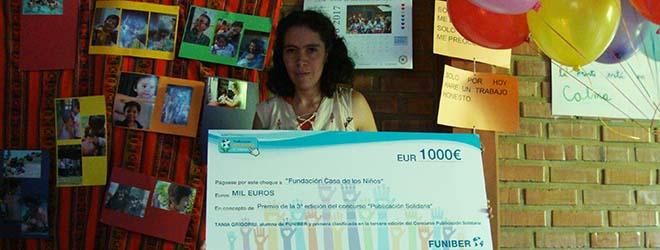FUNIBER entrega el 1r premio del concurso Publicación Solidaria a la Fundación Casa de los Niños