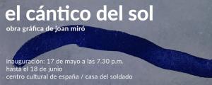 """Exposición de Joan Miró titulada """"El cántico del sol"""" en Panamá"""