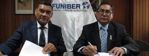 FUNIBER firma convenio con la UNDAC para desarrollar proyectos de investigación