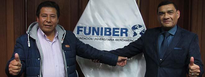 FUNIBER se reúne con alcalde de Aucará para firma de convenio