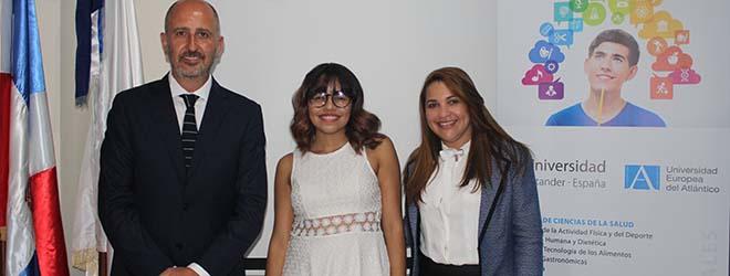 Alumna dominicana becada por FUNIBER inicia estudios en UNEATLANTICO