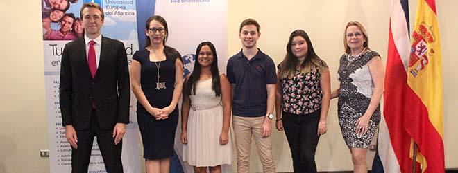 Estudiantes costarricenses becados por FUNIBER viajan a España para estudiar en UNEATLANTICO