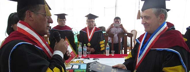 Presidente de FUNIBER recibe reconocimiento Doctor Honoris Causa de la UNDAC