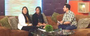 Directora de FUNIBER entrevistada por canales de televisión en Honduras
