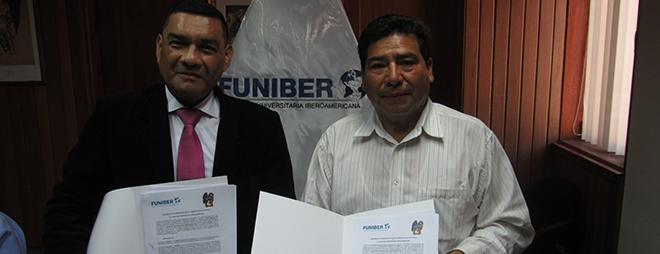 FUNIBER firma convenio de mutua colaboración con la Municipalidad de Chipao