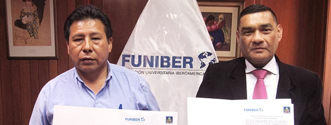 FUNIBER Perú firma convenio de colaboración con la Municipalidad de Aucara