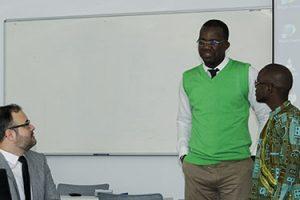 Becados angoleños de FUNIBER presentan su proyecto final de Máster en el campus de UNEATLANTICO