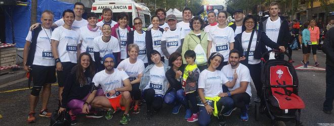 Los miembros de FUNIBER España, en la carrera benéfica 'En marcha por la parálisis cerebral'.