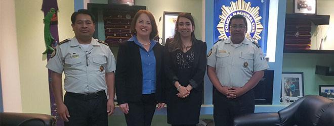 FUNIBER Guatemala en la presentación de programas académicos a la Polícia