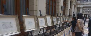 Inaugurada exposición de Picasso en el Palacio de Tribunales de Santiago (Chile)