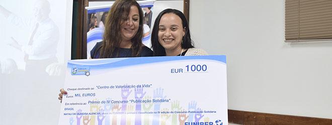 FUNIBER entrega el premio del concurso Publicación Solidaria IV en el III Encuentro de Educación