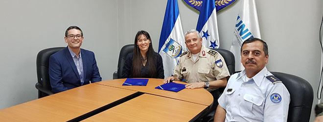 FUNIBER firma convenio de atribución de becas con la Universidad de Defensa de Honduras (UDH)