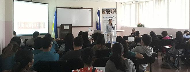 Estudiantes de UNAH muestran interés en cursar maestrías y doctorados patrocinados por FUNIBER