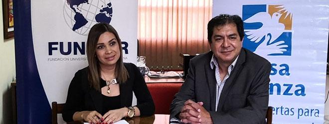 FUNIBER firma convenio de colaboración con la Casa Alianza de Honduras