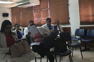 Sesión informativa de FUNIBER en el Hospital de la Mujer Dra. Evangelina Rodríguez Perozo