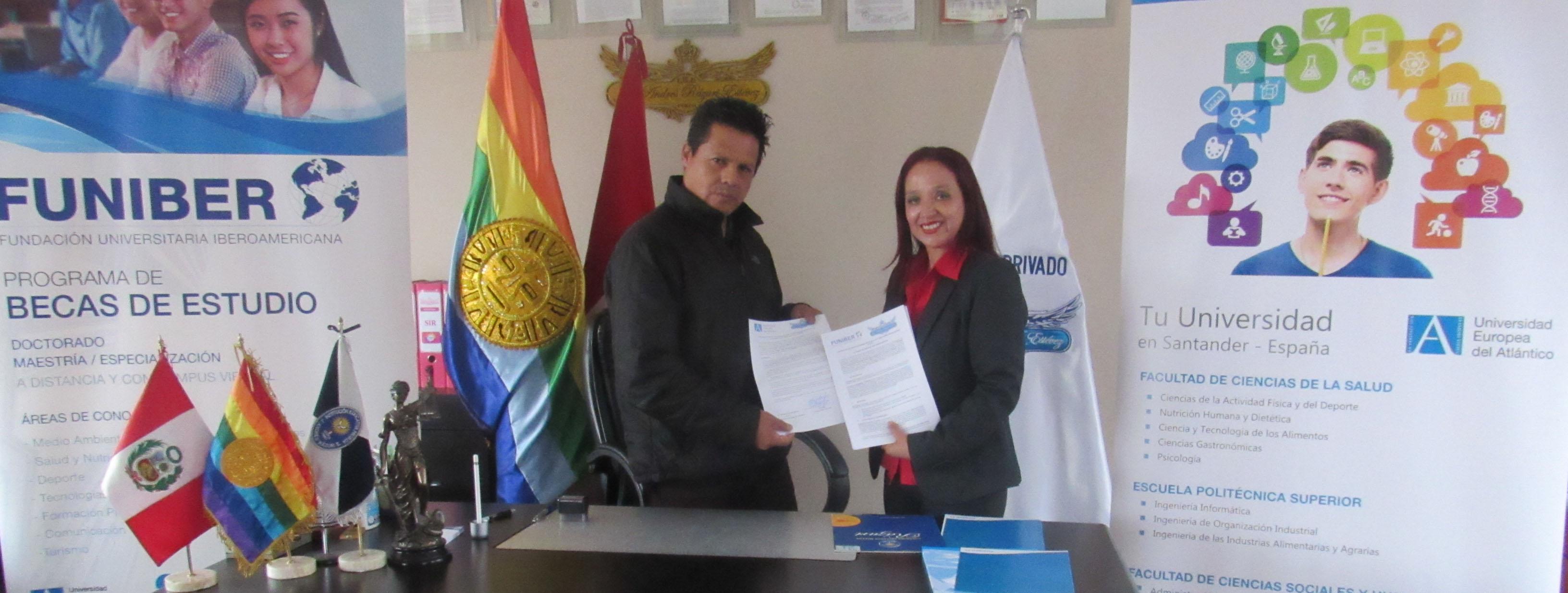 FUNIBER firma convenio de colaboración con el Colegio I.E.P. José Andrés Rázuri Estevez