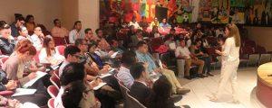 La conferencia de Elvira Carles en Tegucigalpa sobre cambio climático despierta gran interés