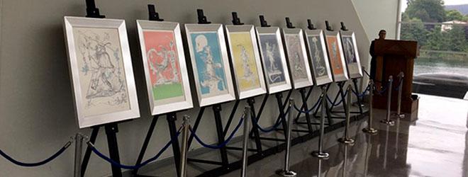 """Inaugurada la exposición """"los sueños caprichosos de Pantagruel"""" de Salvador Dalí en la Corte de Apelaciones de Valdivia."""