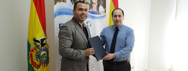 FUNIBER firma acuerdo con el Colegio de Profesionales en Administración de Santa Cruz