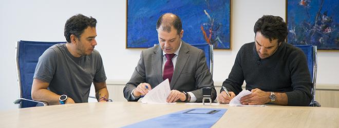FUNIBER y el equipo ciclista colombiano Postobón firman convenio de colaboración