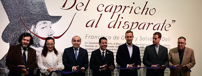 """Éxito de asistencia en la inauguración de la exposición """"Del capricho al disparate. Francisco de Goya y Salvador Dalí"""" en el CCU BUAP"""