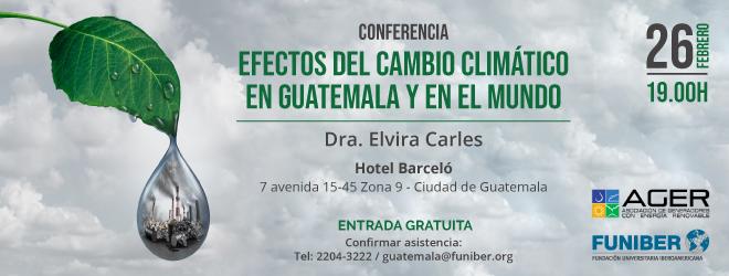 FUNIBER Guatemala organiza conferencia sobre cambio climático